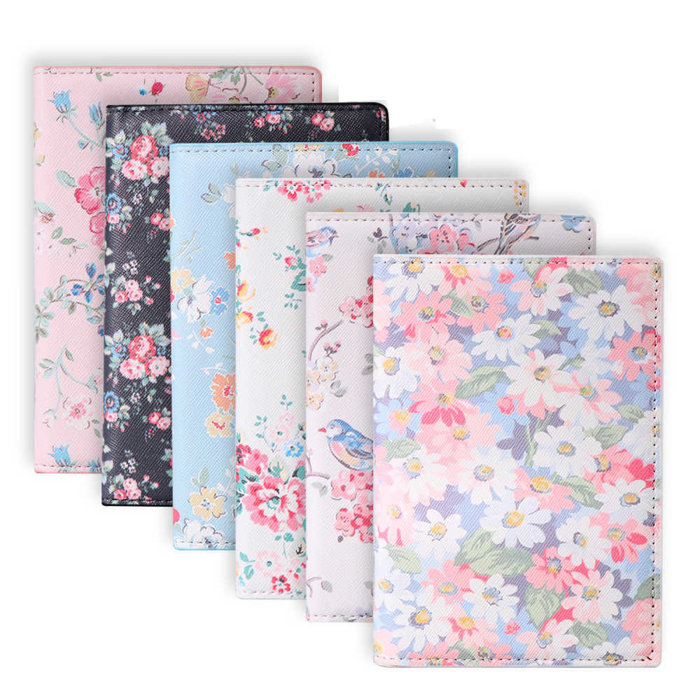 Fashion 3D design Women PU Leather Travel Wallet Passport Holder Floral Print Document Card Passport Cover Case ID Card Holders