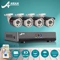 Nova listagem anran hd 4ch hdmi 1080n ahd dvr sistema de câmera de segurança 720 p câmera de cctv de vigilância ao ar livre à prova d' água de vídeo kit