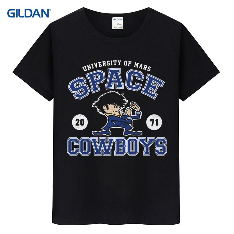 Black Tee Shirt Online New Fashion Nani? Wear Bebop Anime T-Shirt: See You Later, Space Cowboy Coton T Shirt Online T-Shirt Online - intl