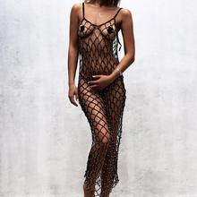 MUXU sexy transparent backelss summer dress clothes for women vestidos dresses beach long bodycon mesh