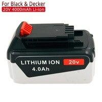 충전식 배터리 무선 전동 공구 교체 용 배터리 블랙 데커 용 20 v 4000mah 리튬 lbxr20 lb20 lht2220 lbx20