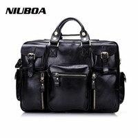 Man Genuine Leather Shoulder Bags Top Quality Euro Style Multi Pocket Business Travel Handbag Solid Zipper Messenger Bags
