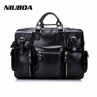 Genuine Leather Men Business Travel Bag New Fashion Casual Leather Luggage Travel Bags High Quality Man