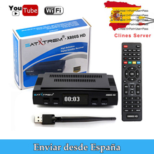 X800S HD  Satellite TV Receiver 1080p HD DVB-S2 USB 3G dongle Support YouTube/PowerVu /DRE/Biss key/Europe cccam Ship from Spain