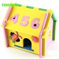 Happyxuan lindo diy 3d mushroom number modelo rompecabezas casa de artesanía de espuma eva juguetes de desarrollo de kindergarten craft kids 3-6 años