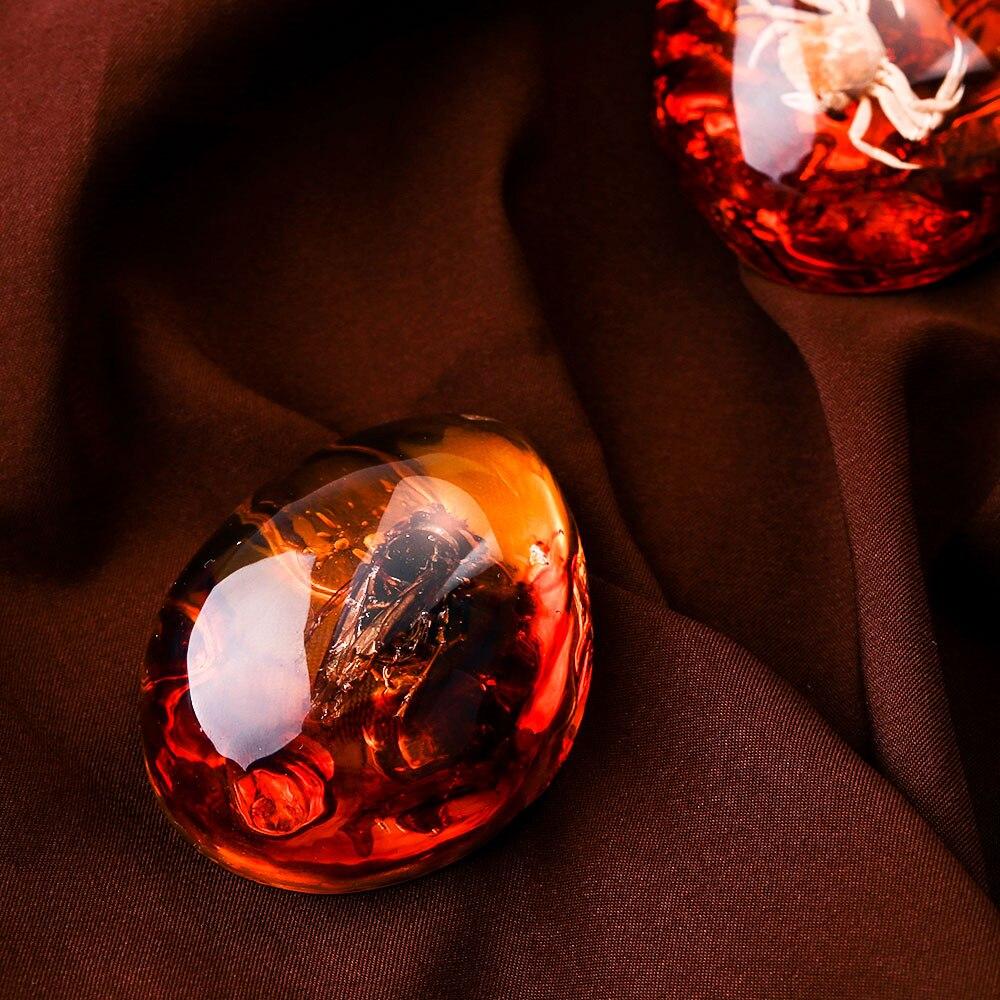 Модные натуральные насекомые Янтарное украшение из драгоценного камня оригинальность скорпионы бабочка пчела краб украшения DIY ремесла подарок