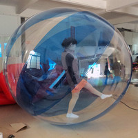 Inflatable Water Toy Blue Color Human Inflatable Water Walking Ball Walk On Water Balloon
