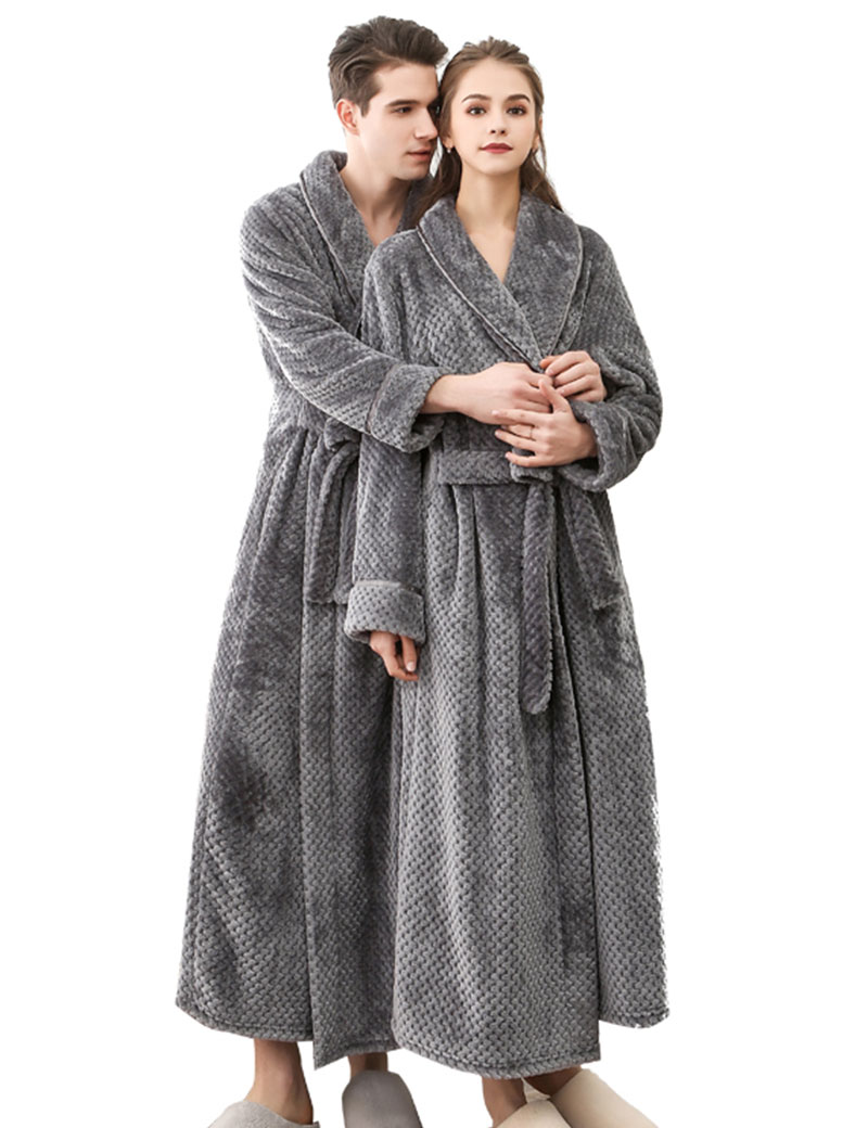flannel bathrobe winter women soft warm long white bath robe bride and bridesmaid robes dressing gown pull cotton badjas