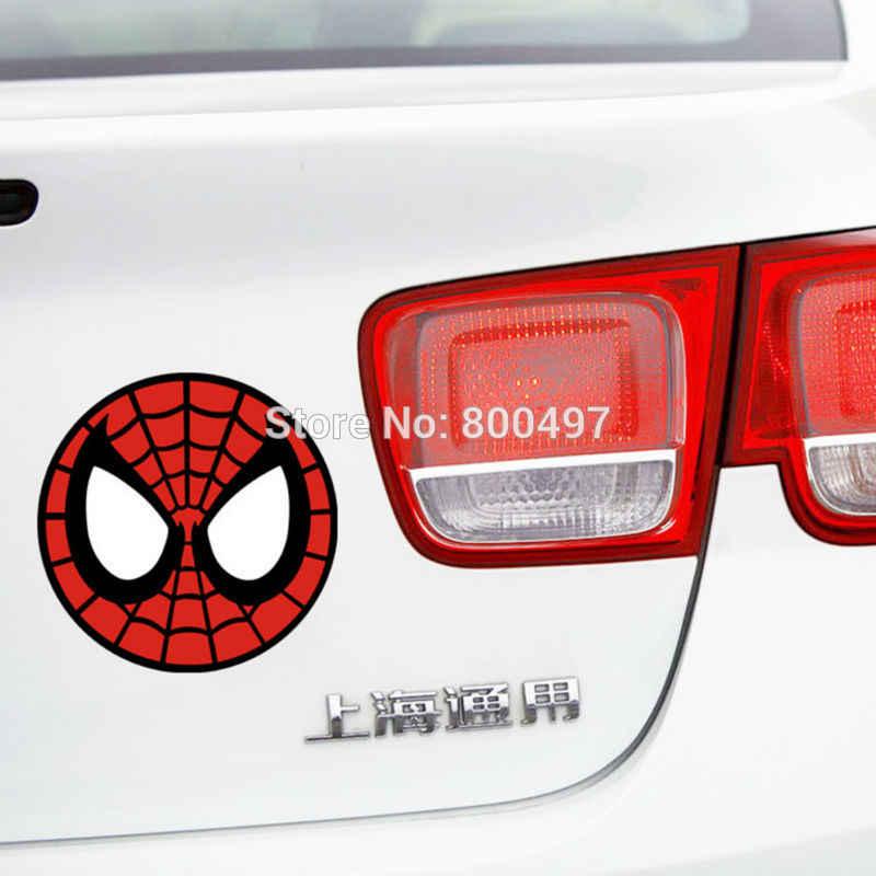 O Projeto o mais novo Spiderman Rodada Auto Decal Acessórios Do Carro Adesivo para Ford Chevrolet Volkswagen Fiat Hyundai Kia Tesla Lada