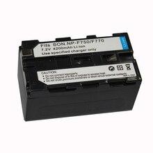 1 Pcs 7.2 V 4800 mah Batteria de Substituição Câmera Digital Para Sony NP-F750 NP-F770 NP-F750 NP-F770 Bateria
