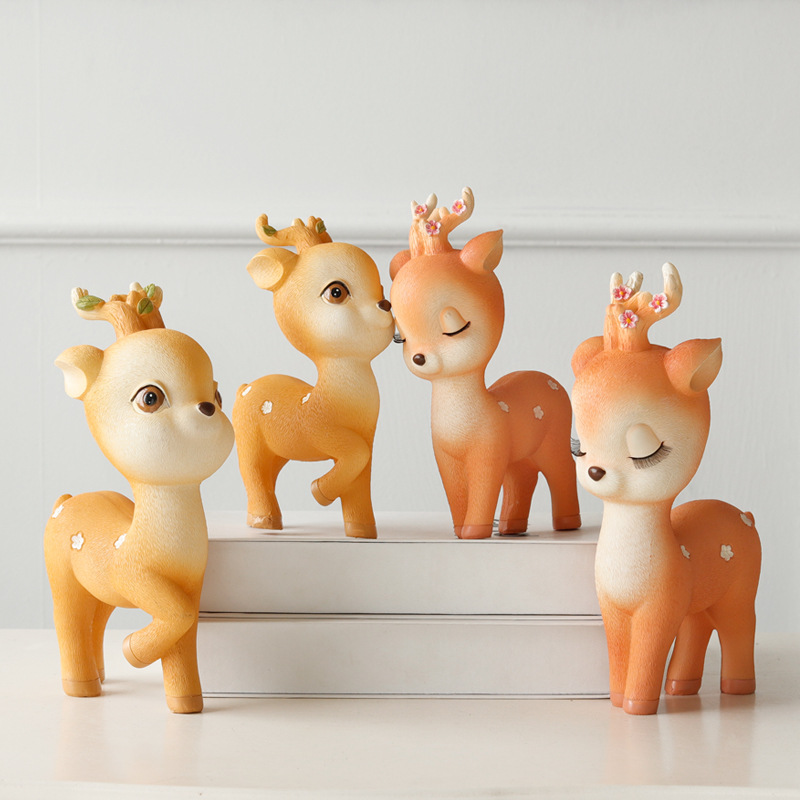 Resin Craft Rural Deer Statue Sculpture Ornaments Home Decoration Accessories Gift Exquisite Geometric Resin Deer Sculpture  Resin Craft Rural Deer Statue Sculpture Ornaments Home Decoration Accessories Gift Exquisite Geometric Resin Deer Sculpture