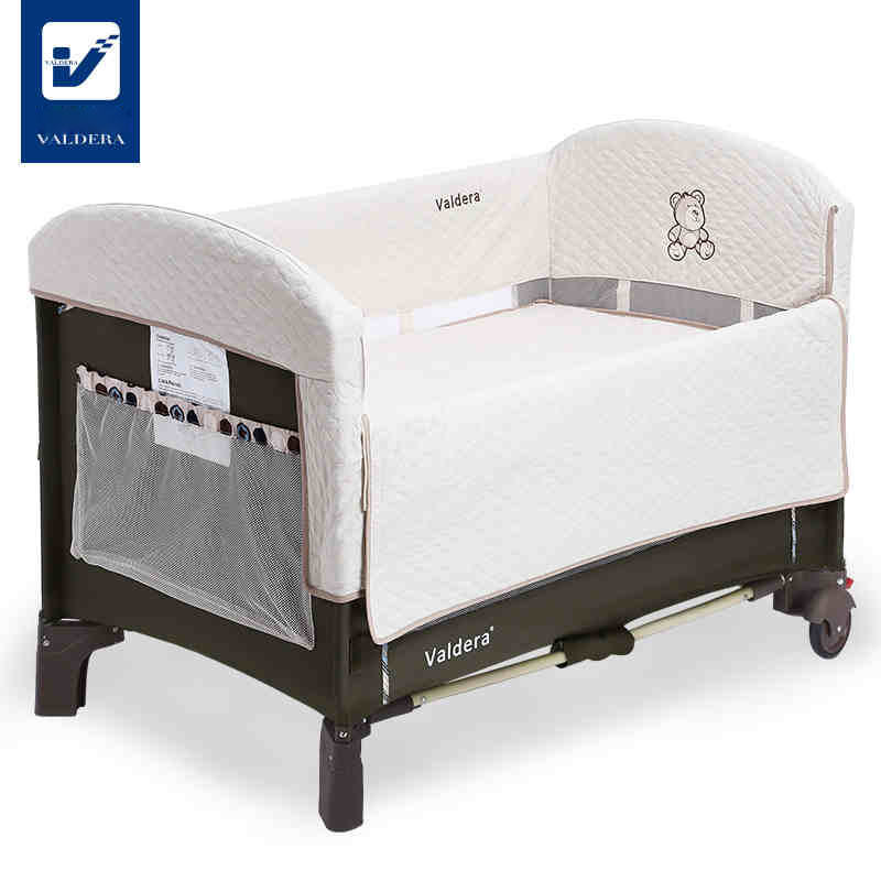 Valdera cuna plegable portátil multi-propósito juego de cama cuna de acoplamiento