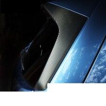 lsrtw2017 carbon fiber PVC car rear window post sticker film for subaru forester 2019 2020 SK