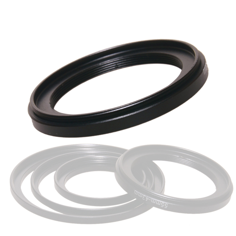 Black Metal 62mm-55mm 62-55mm 62 to 55 Step Down Ring Filter Adapter Camera High Quality 62mm Lens to 55mm Filter Cap Hood