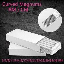 한 상자 Pre sterilized 곡선 라운드 매그넘 문신 바늘 공급 5/7/9/11/13/15/17/19/21/23/25/29/35/39 RM