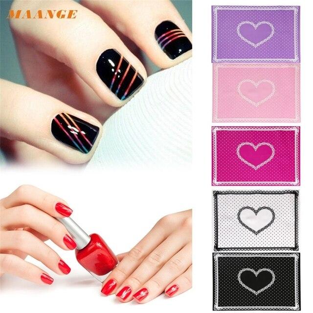 MAANGE ColorWomen Silicone Lace Polka Dot Heart Pattern Nail Art ...