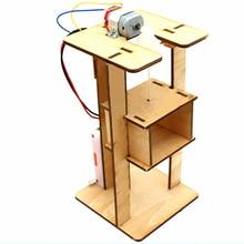 Assembling DIY Electric Lift Children Science Toys Experimental Materials Set Boys Creative