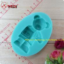 Baby bear went to school wholesale hot sale chocolate silicon mold  fondant Cake decoration (si266)
