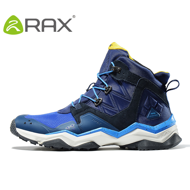RAX Winter Waterproof Hiking Shoes For Men and Women Outdoor Breathable Hiking Boots Warm Outdoor Climbing Boots 63-5B369 yin qi shi man winter outdoor shoes hiking camping trip high top hiking boots cow leather durable female plush warm outdoor boot