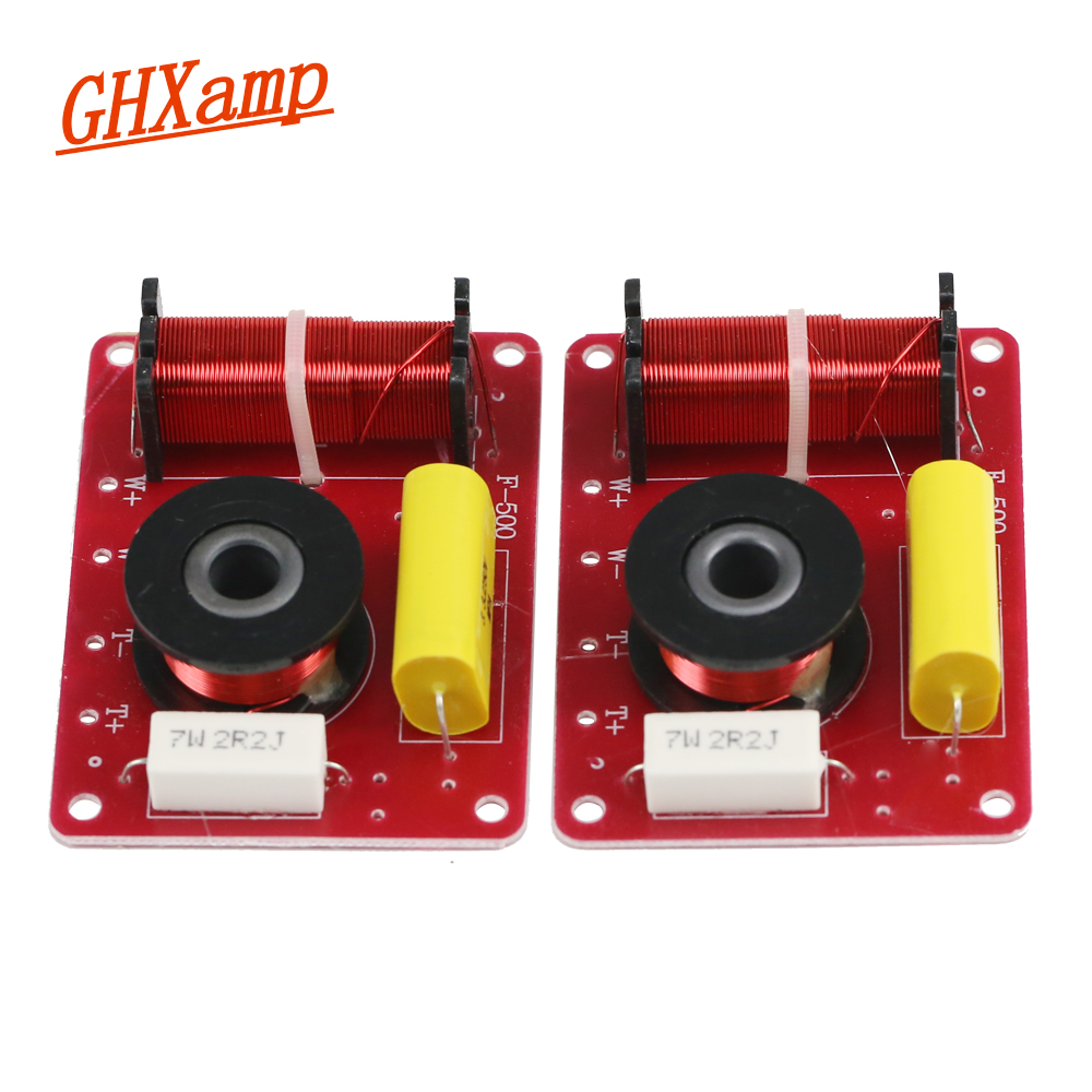 GHXAMP 2 WAY Crossover Audio Treble Bass 2 Units Crossover Surround Bookshelf Speakers Filter Frequency Divider 12db 130W 2PCS