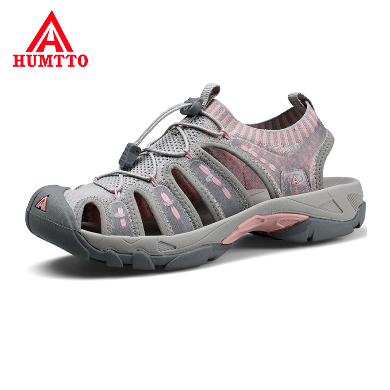 2019 Hot Sale New Womens Outdoor Sandals Flat Summer Light Womans Beach Shoes Breathable Soft Non-slip Female Hiking Sandals