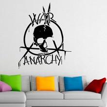 Venta caliente Guerra Anarquía Sala de Arte Mural de La Pared Pegatinas Logo Militar Guerra DecorativeVinyl Tatuajes de Pared 59×73 cm Y-650