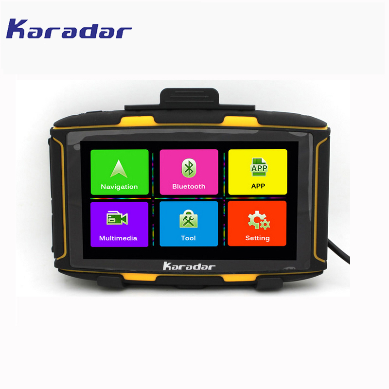 Karadar 5 inch Android Motorcycle GPS Navigation Waterproof GPS moto/motos DDR1GB MT 5001 GPS with WiFi, BT4.0