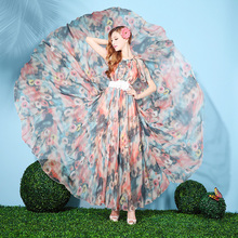 Summer Floral Chiffon Holiday Beach Bridesmaid butterfly Sleeved Sundress Wedding Guest Long Maxi Dress Plus Sizes available