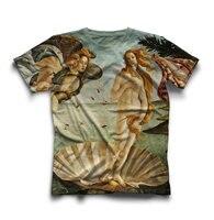 La Nascita di Venere Unisex T shirt Sandro Botticelli dipinto t camicia casuale delle ragazze tees di alta qualità 3D pieno stampa t camicia
