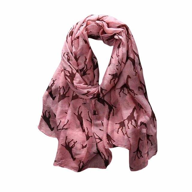 Mode WomenScarves Damen Giraffe Gedruckt Muster Langen Schal Warme ...