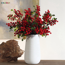 Artificial Blueberry Decorative Fruit Berry Flower Bud Silk Flowers Fruits For Wedding Home Party Decoration Artificial Plants