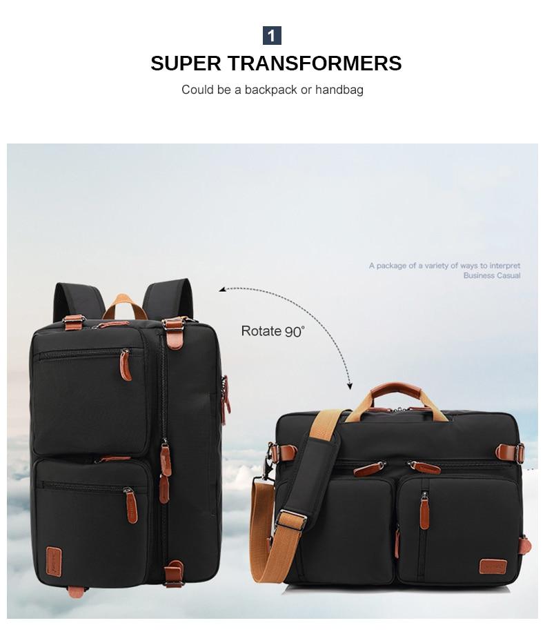two photos of a laptop bag