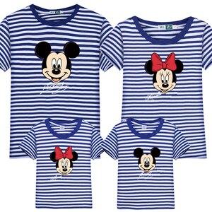 Image 3 - Ropa a juego para la familia, camiseta de Minnie y Mickey de algodón para papá e hija, camisa de trajes a juego, camiseta de aspecto familiar de maman fille