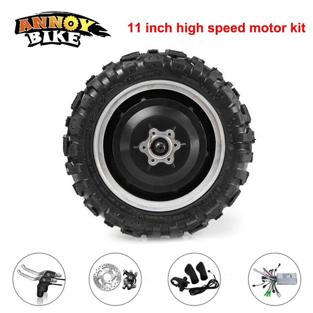 hub motor kit 11 inch 60V 72V 1000W 1500W electric bike conversion kit 270mm Tire Motor Wheel For Scooter Forward 100-120km/h electric scooter 3 wheel tricycle bicycle citycoco popular cool 72v 1000w high powered for men women cycling the handicapped