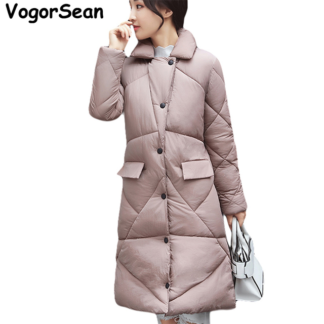 VogorSean Winter Parka Women 2017 New Winter Coats Jackets For Woman Parkas Long Slim Thick Warm Coat Jacket Female Outerwear