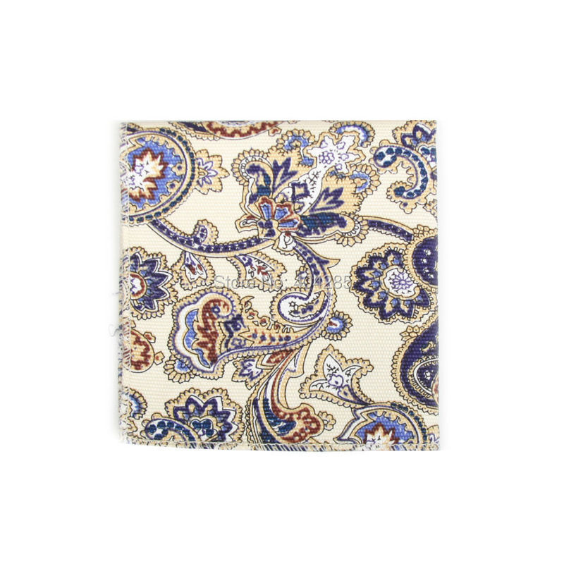 HOOYI Men's Handkerchief Fashion Cotton Floral Pocket Square Towel Hankies