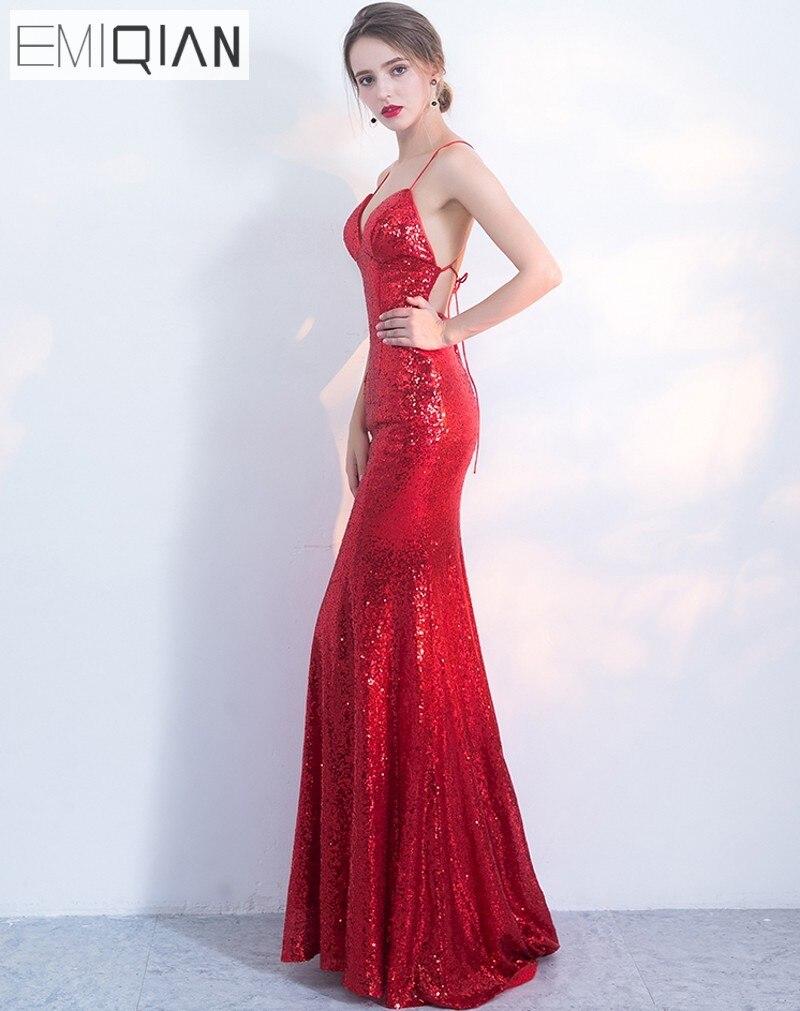 ΝΕΟ Designer Κόκκινο Sequin Φόρεμα Party Party - Ειδικές φορέματα περίπτωσης - Φωτογραφία 4