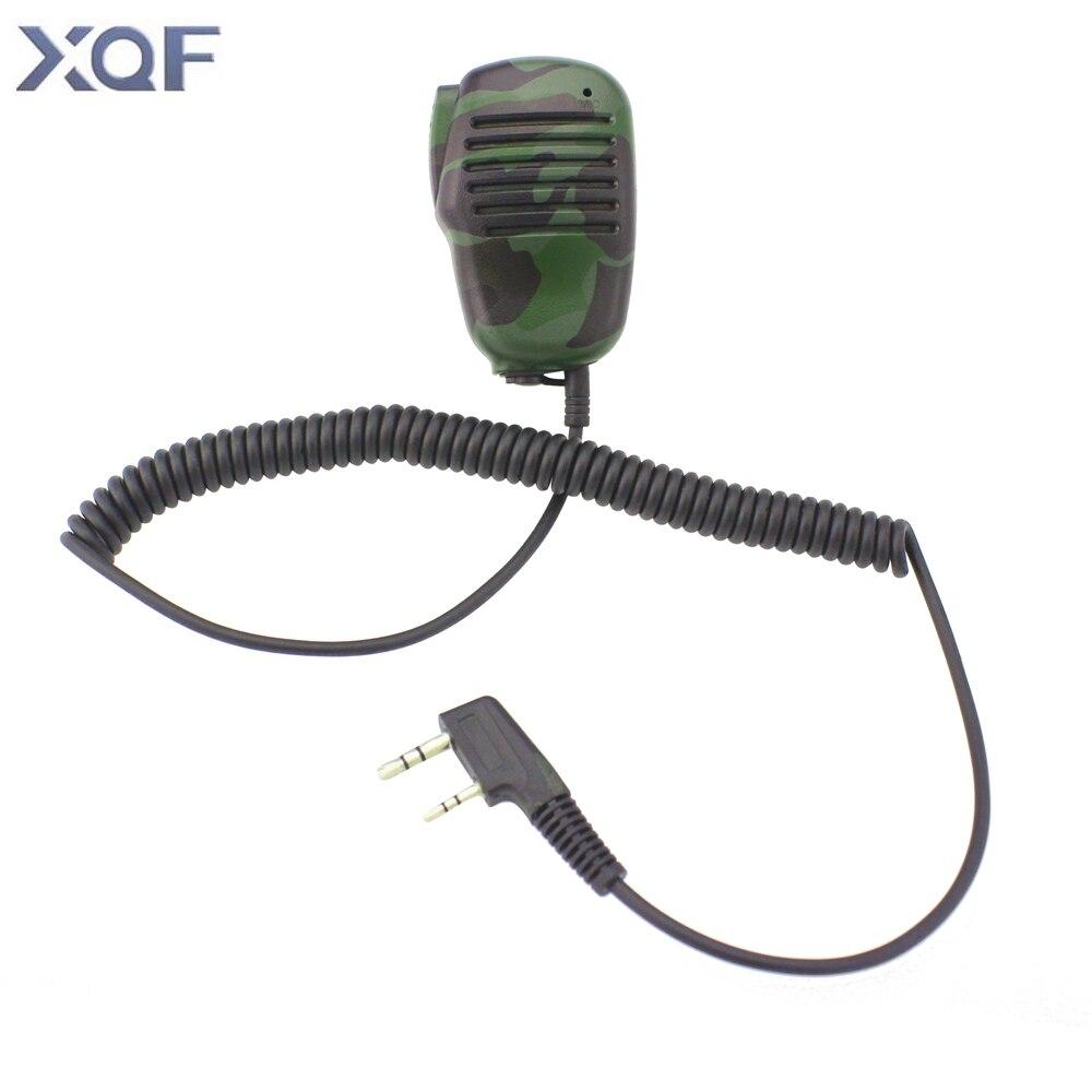 Mini Camouflage Mikrofon K25 Lautsprecher Mic Für Zweiwegradio Kenwood BAOFENG UV-5R 5RA 5RE Plus Walkie Talkie