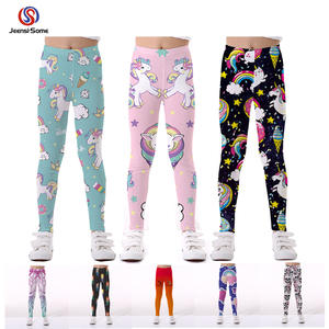 Girls Trousers Legging Unicorn Baby-Boy for Elasticity Breathable Soft-Print Pants