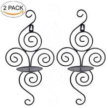 2 uds. Candelero de Metal de hierro candelabro candelero candelabro decoración del hogar europeo