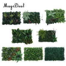 Artificial Green Grass Foliage Plants Berries Flower Wall Panels Wedding Party Pillar Main Road Floral Decor 60x40cm