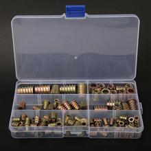 100Pcs/set Hex Drive Head Nut Iron Zinc Thread Plating Insert nuts Wood nut Accessoriess