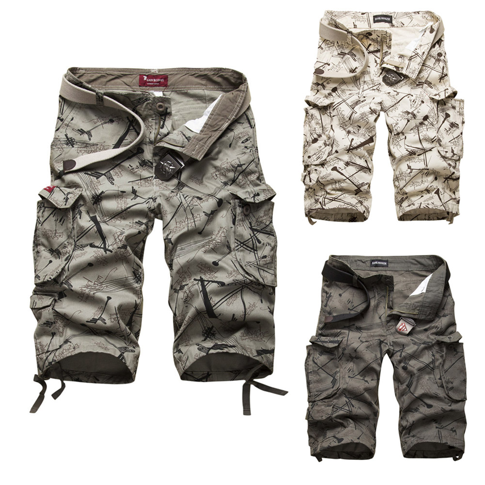 Men/'s Casual Military Army Combat Camo Overall Shorts Cargo Summer Sports Pants