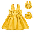 Summer Baby Girl Dress 2017 New Princess Sling/Vest Dress Baby Girls Cotton Clothing Kids Big Bow Dresses Clothes