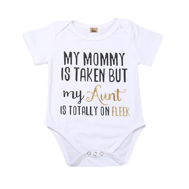 ba9792573 Infant Baby Girls Boy Newborn Kids Babygrow Cotton Short Sleeve Letter  Bodysuit Jumpsuit Playsuit Outfit Sunsuits Sunset 0-2Y