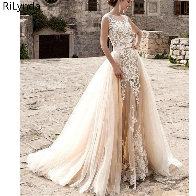 Robe de bal robes de mariée turquie 2019 Appliques dentelle sur mesure robe de mariée robe de mariée vestidos de noiva grande taille