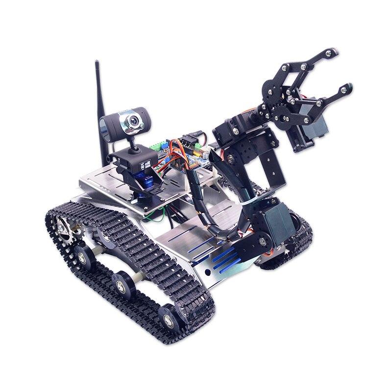 Xiao R FAI DA TE WiFi Video Intelligente Robot Serbatoio Car Per 51 Duino con la Macchina Fotografica PTZ Scienza Giocattoli RC Intelliengence Bambini presenta