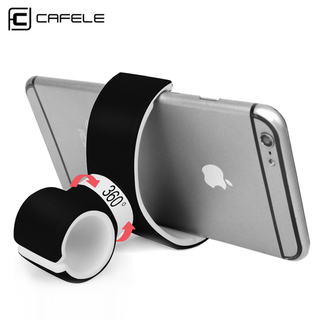 "Cafele Universal car bike bicycle phone holder Air Vent stand bracket 360 rotate under 6"" bottle Gym use for iPhone 7 6 plus"
