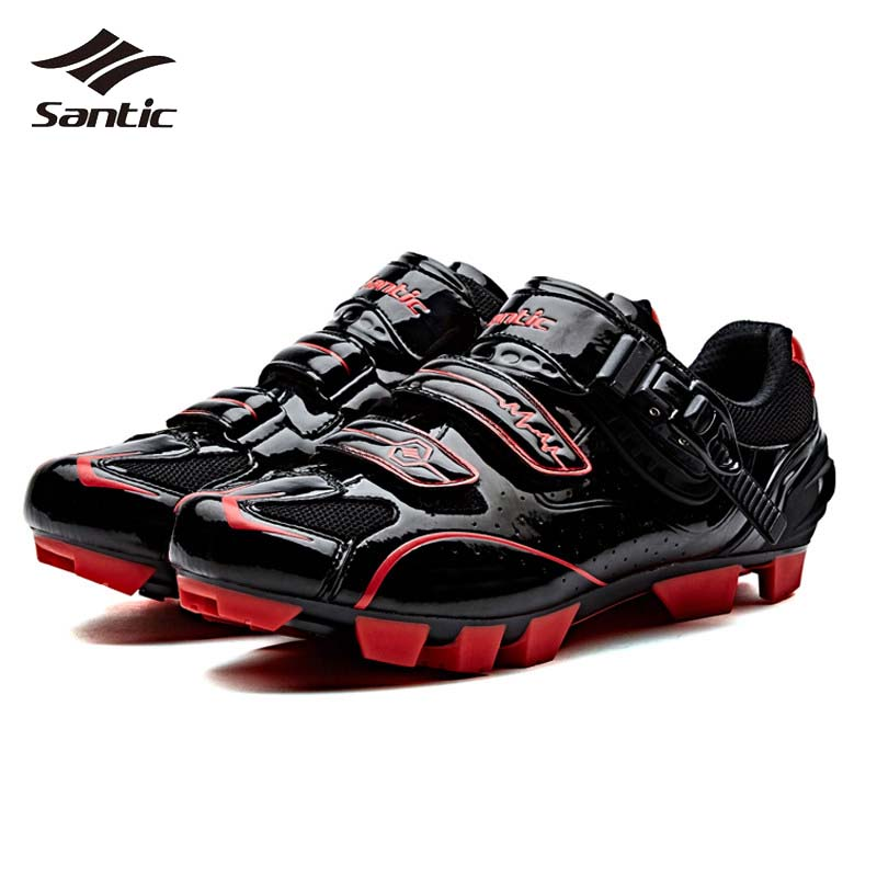 где купить Santic MTB Cycling Shoes Men PU Breathable Mountain Bike Shoes Racing Bicycle Athletic Locking Shoes Sneakers Chaussure Vtt по лучшей цене