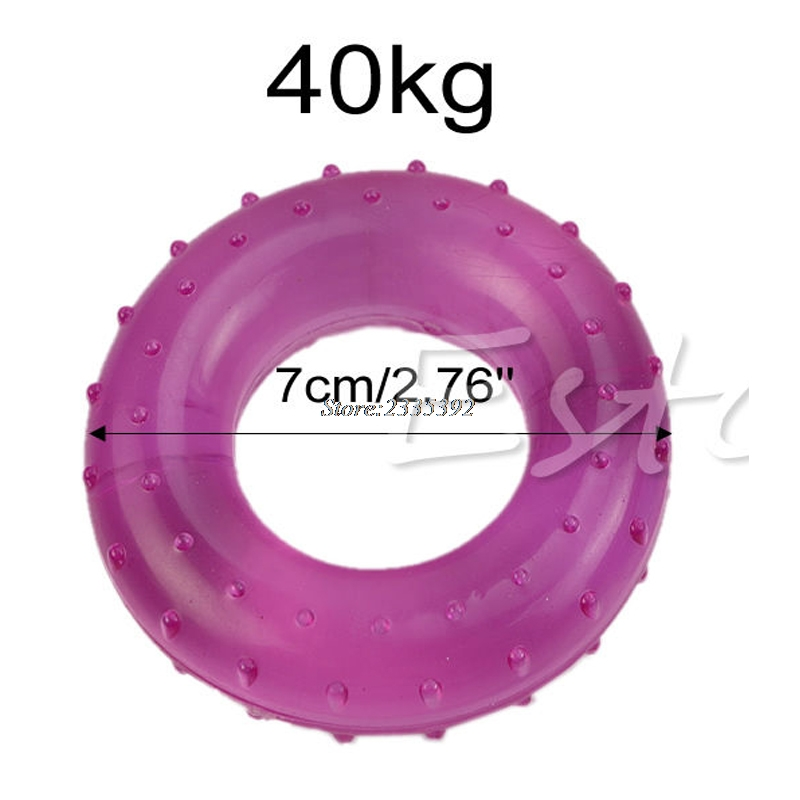 40kg palm finger grip muscle strength rubber ring fitness power exercise